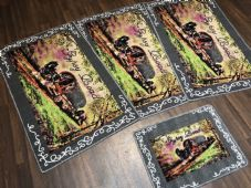ROMANY GYPSY WASHABLES NEW DESIGN GYPSY ROAD DARK GREY NON SLIP MATS BEST AROUND